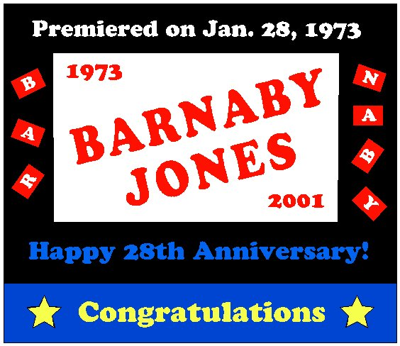 Congratulations to Barnaby Jones 28th Anniversary