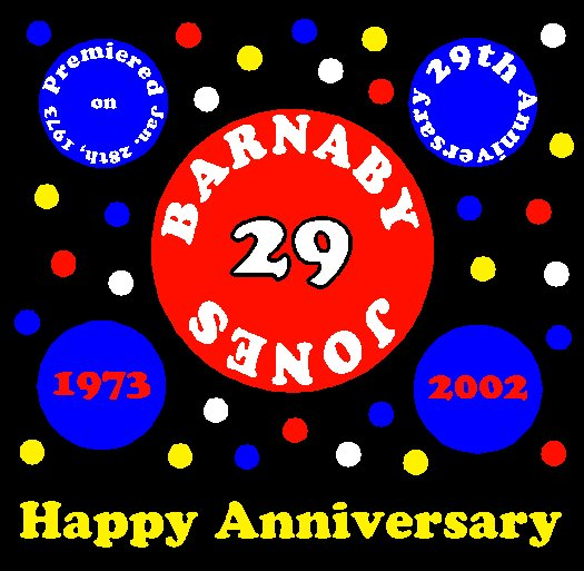 Congratulations to Barnaby Jones 29th Anniversary